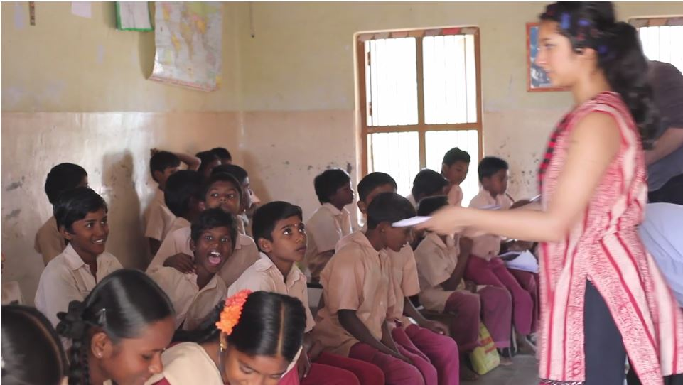 KnotProfit founders donated to a school in India