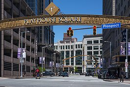 East 14th and Prospect in Playhouse Square
