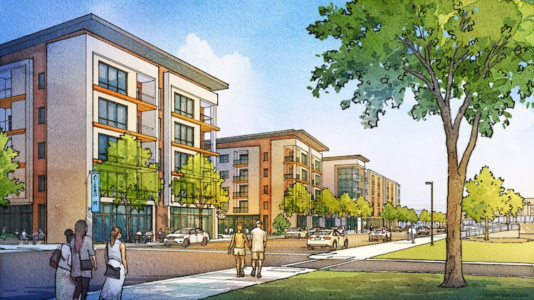Rendering of development on W. 25th St.